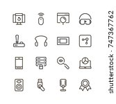 online game icon set.... | Shutterstock .eps vector #747367762
