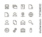 data exchange icon set.... | Shutterstock .eps vector #747368032