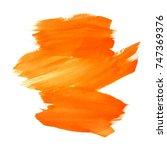 abstract orange watercolor...   Shutterstock .eps vector #747369376