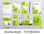 corporate brand identity mockup ... | Shutterstock .eps vector #747381016