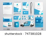 stationery corporate brand... | Shutterstock .eps vector #747381028