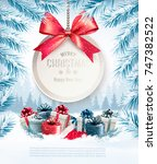 holiday christmas background... | Shutterstock .eps vector #747382522