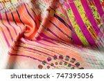 texture background image  silk... | Shutterstock . vector #747395056