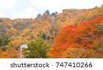 autumn and japan travel concept ... | Shutterstock . vector #747410266