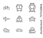 transportation line icon... | Shutterstock .eps vector #747418846