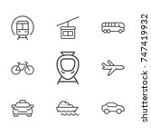 transportation line icon... | Shutterstock .eps vector #747419932