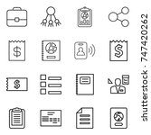 thin line icon set   portfolio  ... | Shutterstock .eps vector #747420262