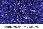 background blue crystals  | Shutterstock . vector #747431896