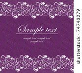 violet card with a white lace | Shutterstock .eps vector #74743279