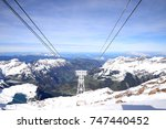 alps  view from mt. titlis in... | Shutterstock . vector #747440452