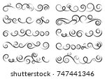 calligraphic design elements.... | Shutterstock .eps vector #747441346