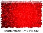 light red vector blurry... | Shutterstock .eps vector #747441532