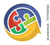 logo icon for business... | Shutterstock .eps vector #747442462
