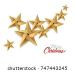 christmas holiday new year... | Shutterstock .eps vector #747443245