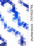 dark blue modern geometrical... | Shutterstock . vector #747453796