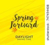 daylight saving time poster or... | Shutterstock .eps vector #747454408