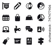 16 vector icon set   shop...
