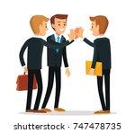 vector coworkers | Shutterstock .eps vector #747478735