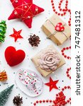 christmas and new year...   Shutterstock . vector #747481312