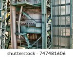 detailed industrial background... | Shutterstock . vector #747481606
