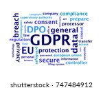 general data protection...   Shutterstock . vector #747484912