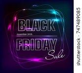 black friday sale black tag ... | Shutterstock .eps vector #747489085