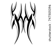 tattoo tribal designs. sketched ... | Shutterstock .eps vector #747505396