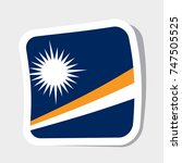 square sticker with flag of... | Shutterstock .eps vector #747505525