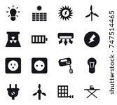 16 vector icon set   bulb  sun... | Shutterstock .eps vector #747514465