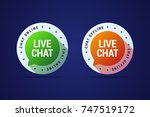 live chat button for websites... | Shutterstock . vector #747519172