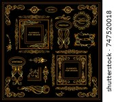 vector sign  symbols for frames ... | Shutterstock .eps vector #747520018