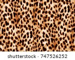 seamless animal print beautiful ... | Shutterstock . vector #747526252