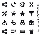 16 vector icon set   share ...