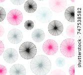 Seamless Pattern Of Dandelion...
