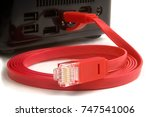 wire patch cord for the... | Shutterstock . vector #747541006