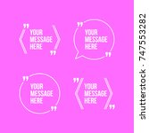 innovative vector quotation... | Shutterstock .eps vector #747553282