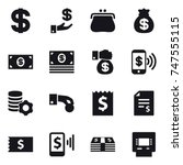 16 vector icon set   dollar ... | Shutterstock .eps vector #747555115