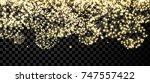 black festive christmas banner... | Shutterstock .eps vector #747557422