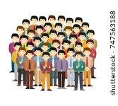 asian men community vector... | Shutterstock .eps vector #747563188