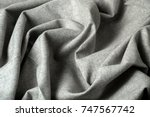 crumpled fabric background and... | Shutterstock . vector #747567742