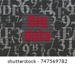 Data Concept  Painted Red Text...