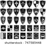 different black and white coats ...   Shutterstock .eps vector #747585448