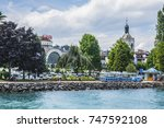 evian les bains  france   july... | Shutterstock . vector #747592108