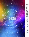 cosmic astrological new year... | Shutterstock .eps vector #747602512