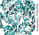 watercolor seamless pattern... | Shutterstock . vector #747602998
