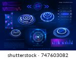 abstract futuristic science... | Shutterstock .eps vector #747603082