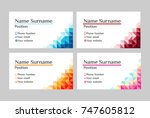 business card.visit card... | Shutterstock .eps vector #747605812