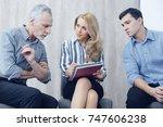 pretty confident female talking ...   Shutterstock . vector #747606238