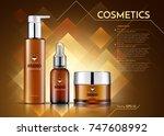 cosmetics vector realistic... | Shutterstock .eps vector #747608992