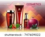 cosmetics vector realistic... | Shutterstock .eps vector #747609022